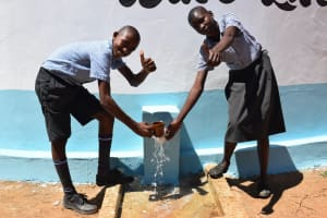 The Water Project: Kithoni Primary School -  Thumbs Up