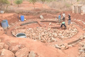 The Water Project: Nguluma Primary School -  Constructing The Foundation