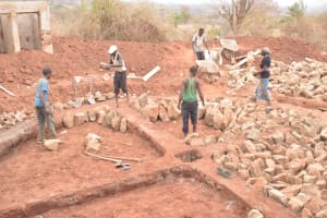 The Water Project: Nguluma Primary School -  Foundation Work