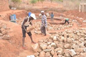 The Water Project: Nguluma Primary School -  Hauling Rocks