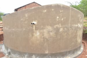 The Water Project: Nguluma Primary School -  Tank Cures Before Paint