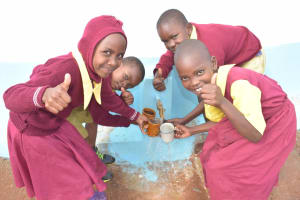 The Water Project: Nguluma Primary School -  Thumbs Up
