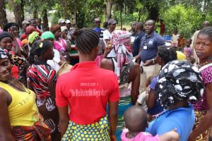 The Water Project: Kamayea, Susu Community & Church -  Community Members Sing At The Dedication