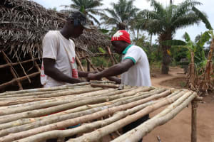 The Water Project: Kamayea, Susu Community & Church -  Constructing A Dishrack
