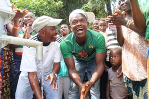 The Water Project: Kamayea, Susu Community & Church -  Councilor And Village Headman Celebrate