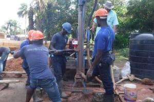 The Water Project: Kamayea, Susu Community & Church -  Drilling