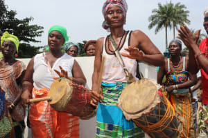 The Water Project: Kamayea, Susu Community & Church -  Drummers At The Well Celebration