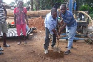 The Water Project: Kamayea, Susu Community & Church -  Ground Breaking