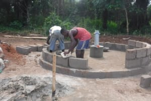 The Water Project: Kamayea, Susu Community & Church -  Pad Construction