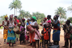 The Water Project: Kamayea, Susu Community & Church -  Singing And Dancing At The Well Dedication