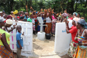 The Water Project: Kamayea, Susu Community & Church -  Well Celebration With The Community