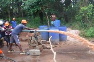 The Water Project: Kamayea, Susu Community & Church -  Yield Test