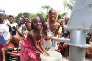 The Water Project: Lungi, Tintafor, St. Lucia Well -  Children Playing At The Well
