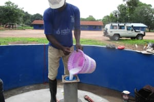 The Water Project: Lungi, Tintafor, St. Lucia Well -  Chlorination