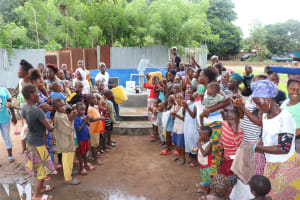 The Water Project: Lungi, Tintafor, St. Lucia Well -  Community Members At The Dedication