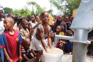 The Water Project: Lungi, Tintafor, St. Lucia Well -  Kids Play At The Well