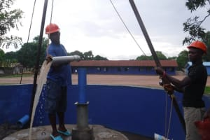 The Water Project: Lungi, Tintafor, St. Lucia Well -  Yield Test