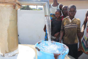The Water Project: Lungi, 25 Maylie Lane -  Clean Water Flowing