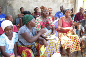 The Water Project: Lungi, 25 Maylie Lane -  Community Members Participate During The Training