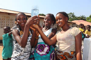 The Water Project: Lungi, 25 Maylie Lane -  Girls Rejoice At The Water From The Well