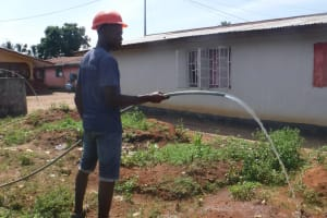 The Water Project: Lungi, 25 Maylie Lane -  Yield Test