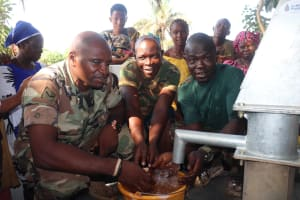 The Water Project: Lungi, Tintafor, #3 DelMoody Street -  Military Members Play At The Well
