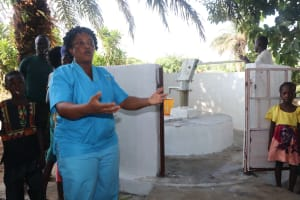 The Water Project: Lungi, Tintafor, #3 DelMoody Street -  Nurse Baby Chalie Making Statement