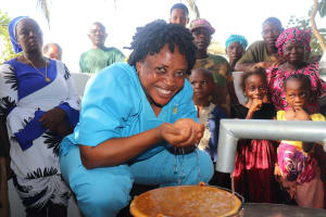 The Water Project: Lungi, Tintafor, #3 DelMoody Street -  Nurse Rejoices At The Well