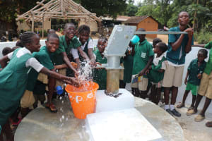 The Water Project: Lungi, Mamankie, DEC Mamankie Primary School -  Students Play At The Well