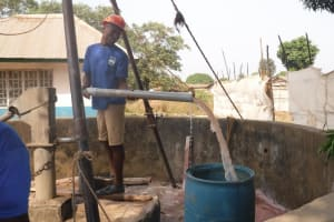The Water Project: Lungi, Kasongha, DEC Kasongha Primary School -  Bailing