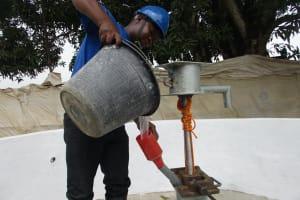 The Water Project: Lungi, Kasongha, DEC Kasongha Primary School -  Chlorination
