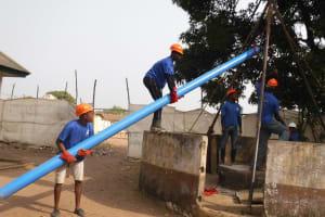 The Water Project: Lungi, Kasongha, DEC Kasongha Primary School -  Drilling
