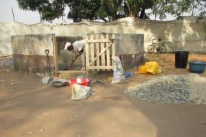 The Water Project: Lungi, Kasongha, DEC Kasongha Primary School -  Pad Construction