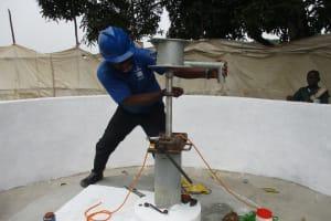 The Water Project: Lungi, Kasongha, DEC Kasongha Primary School -  Pump Installation