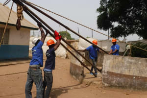 The Water Project: Lungi, Kasongha, DEC Kasongha Primary School -  Setting Up Tripod