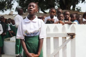 The Water Project: Lungi, Kasongha, DEC Kasongha Primary School -  Student Making Statement