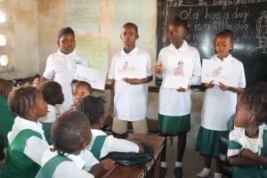 The Water Project: Lungi, Kasongha, DEC Kasongha Primary School -  Students Explaining Disease Transmission