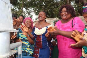 The Water Project: Lungi, Kasongha, DEC Kasongha Primary School -  Teachers Celebrating The Well