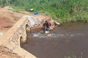 The Water Project: Kaitabahuma I Community -  Fetching Water At Open Source