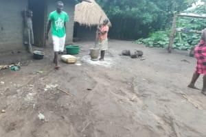 The Water Project: Kaitabahuma I Community -  Girl Pounds Casava