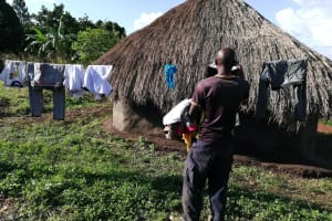 The Water Project: Kaitabahuma I Community -  Hanging Clothes On The Line