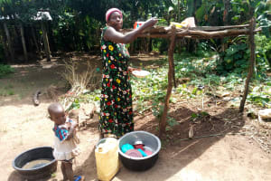 The Water Project: Rubona Kyawendera Community -  Dishrack