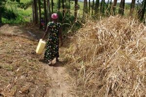 The Water Project: Rubona Kyawendera Community -  Hauling Water