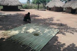 The Water Project: Ejinga Taosati Community -  Making A Mat