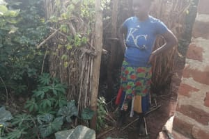 The Water Project: Kabo Village -  Bathing Shelter