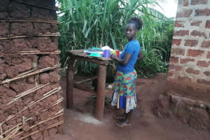 The Water Project: Kabo Village -  Dishrack