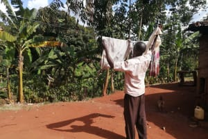 The Water Project: Kabo Village -  Hanging Clothes