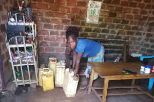 The Water Project: Kabo Village -  Water Storage