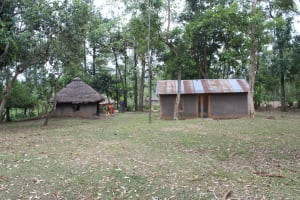 The Water Project: Litinye Community, Shivina Spring -  Homestead Compound