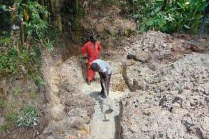 The Water Project: Bukhaywa Community, Ashikhanga Spring -  Site Excavation